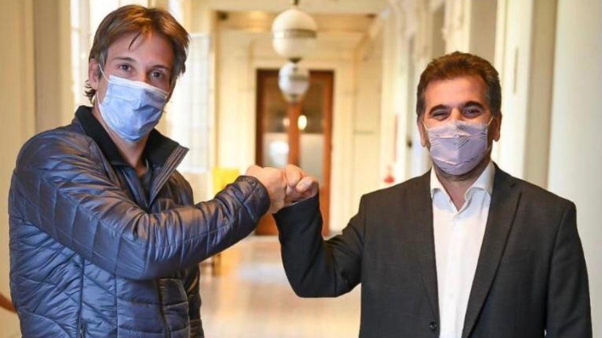Segundo Cernadas junto a Cristian Ritondo (PRO).