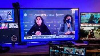 Vizzotti y Vilma Ibarra defendieron en el Senado el proyecto de emergencia Covid