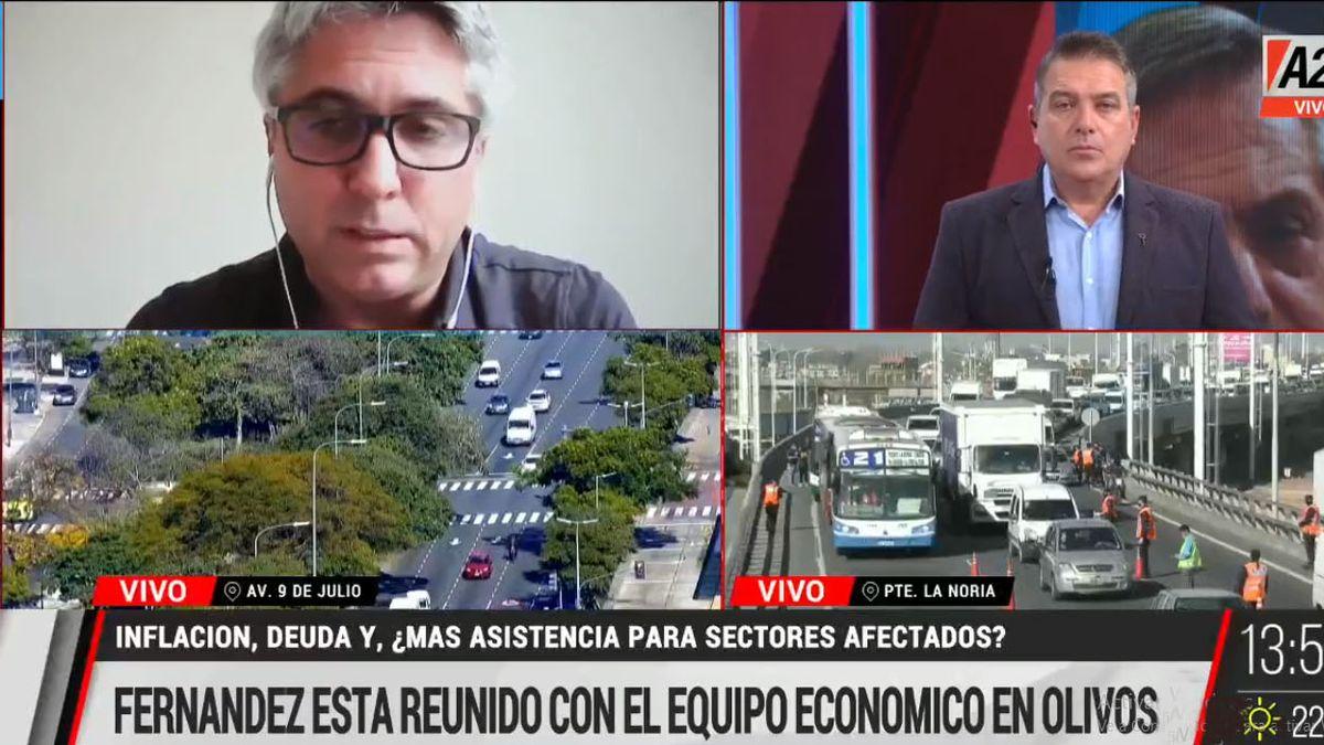 El presidente Fernández analizó con el gabinete económico que medidas se pueden tomar para ayudar en esta etapa de confinamiento a los sectores más afectados (Foto: Captura de TV)