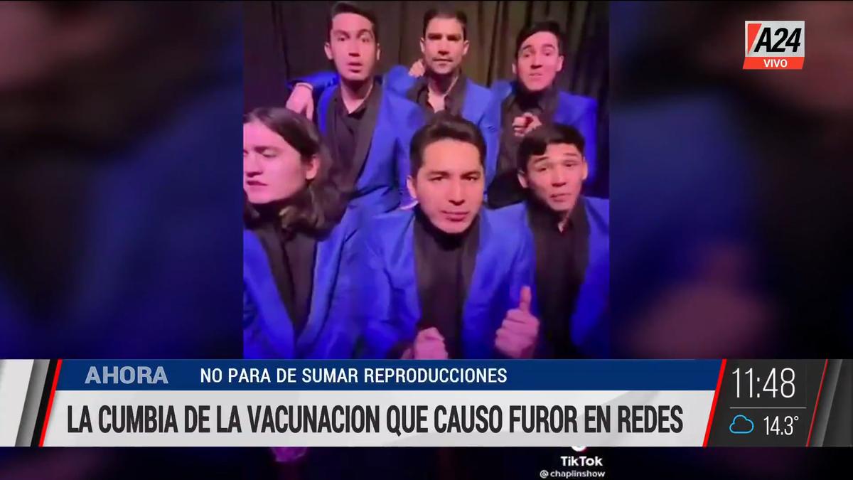 La cumbia de la vacunación es furor en las redes sociales. (Captura de Tv)