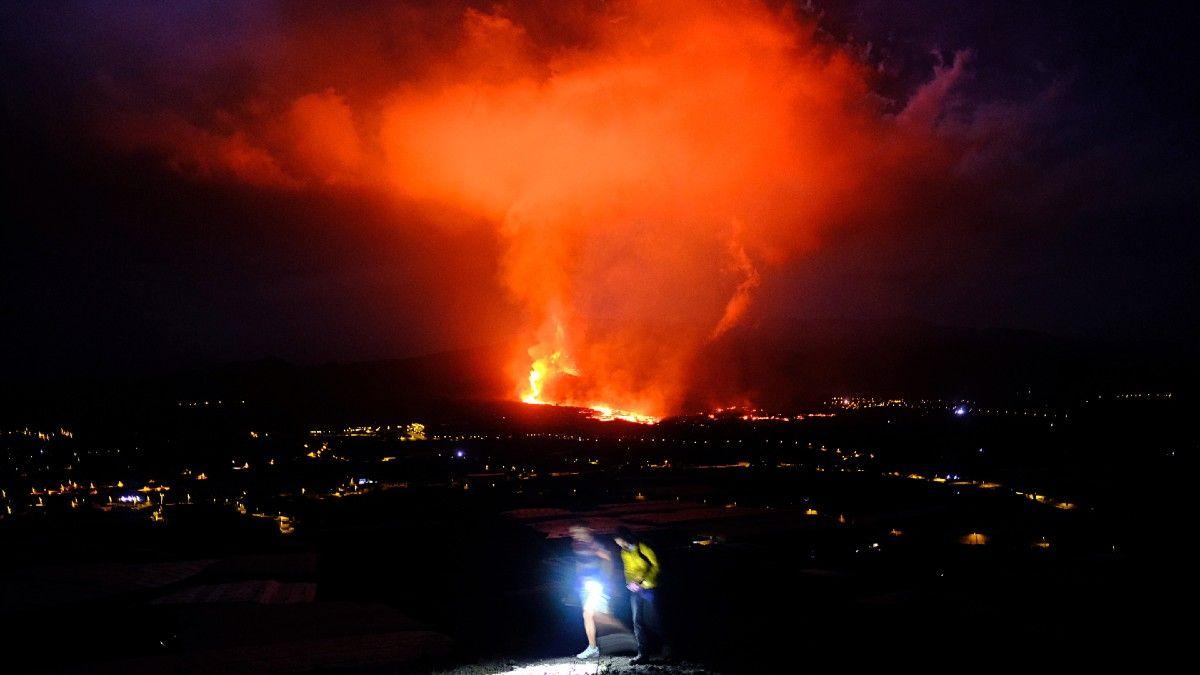 La erupción del volcán en La Palma