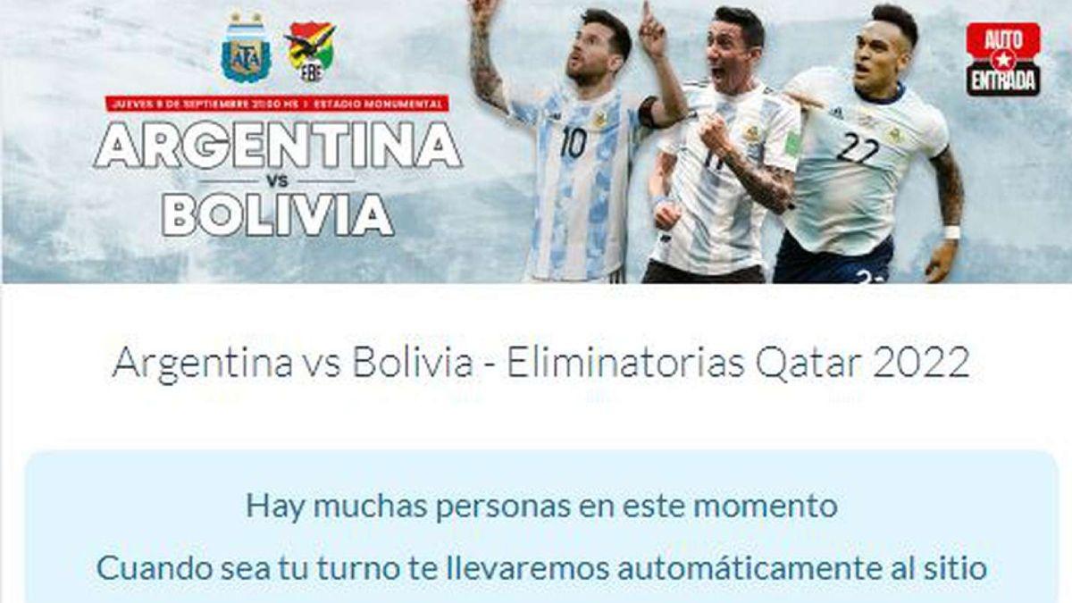 Las entradas para Argentina-Bolivia valen una fortuna en la reventa.