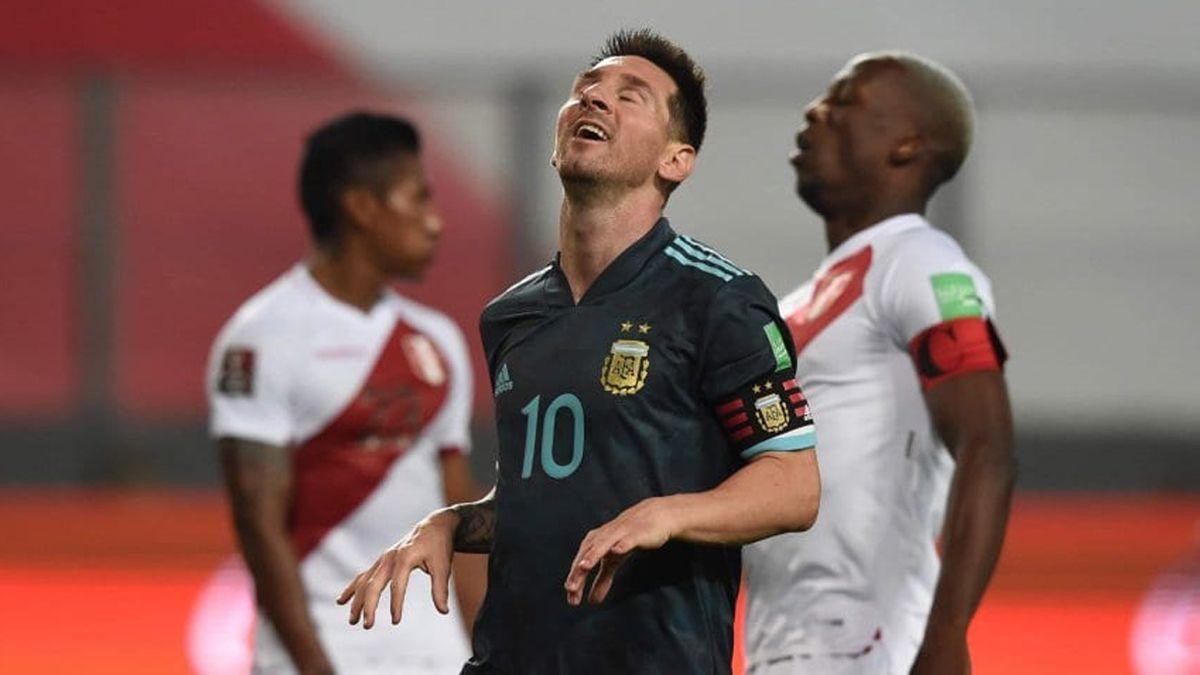 Messi intentará romper una racha negativa ante Perú. ¿Podrá?