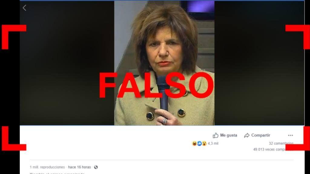 """Es falso el video de Bullrich donde parece """"borracha"""""""