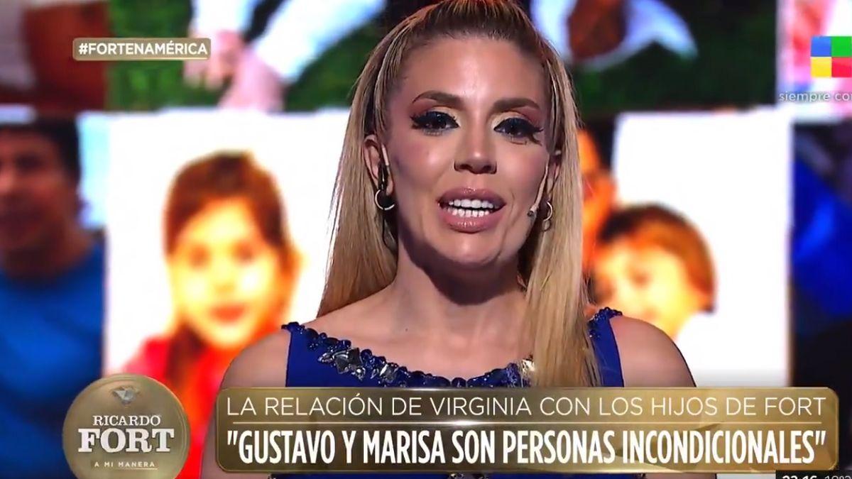 El mensaje de Virginia Gallardo a los hijos de Ricardo Fort