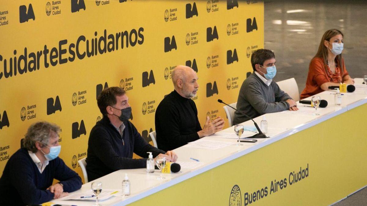 Conferencia de prensa del gobierno de la Ciudad. (Foto: prensa Ciudad)