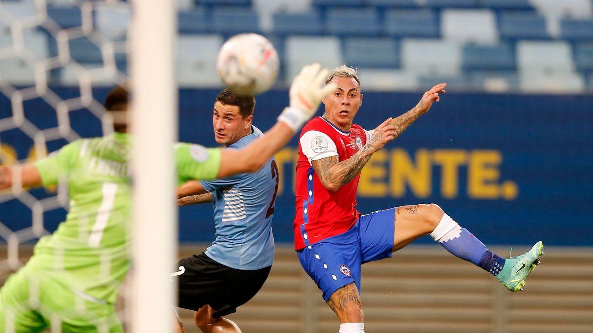 El golazo de Eduardo Vargas para que Chile le gane 1-0 a Uruguay.