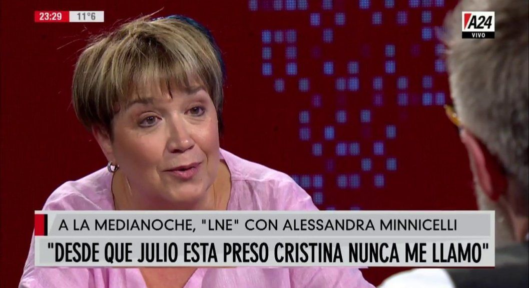 La esposa de De Vido se quejó de que Cristina no los llamó y dijo que no le gusta Alberto Fernández