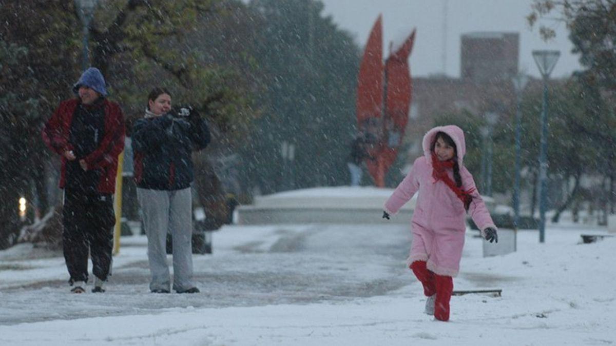 La nevada del 9 de julio de 2007 en la Ciudad y alrededores fue un hecho raro y poco habitual.