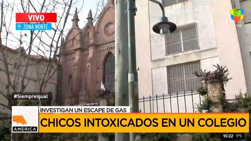 Cuatro nenes intoxicados con monóxido de carbono en un colegio en Martínez