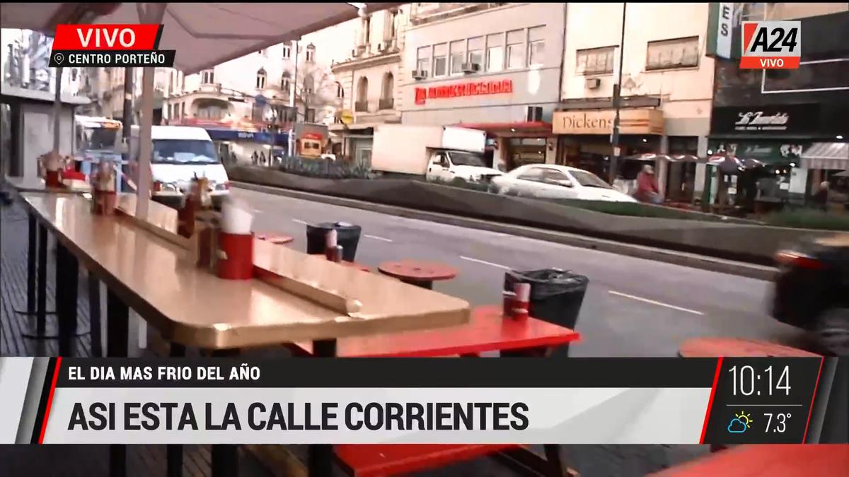 Así se prepara la avenida Corrientes para volver a brillar. (Captura de Tv)