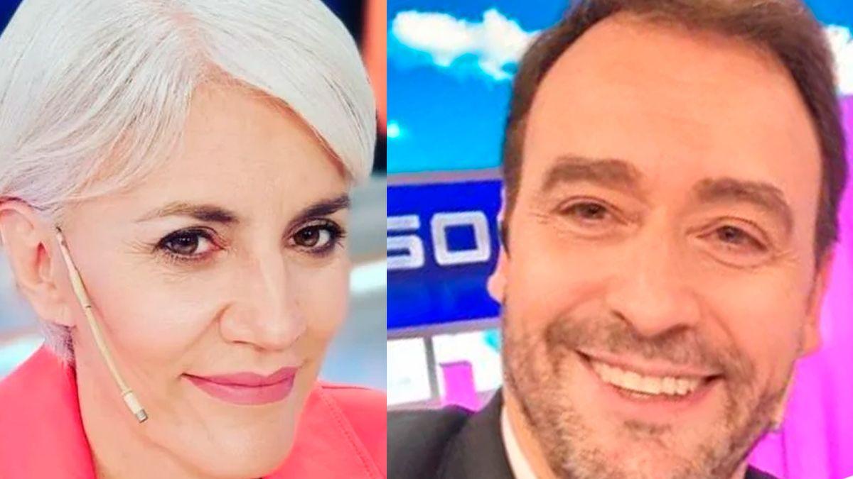 El reencuentro entre Débora DAmato y Adrián Pallares en vivo.