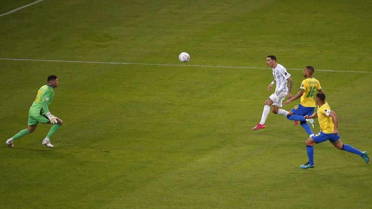 Di María puso en ventaja a Argentina sobre Brasil.