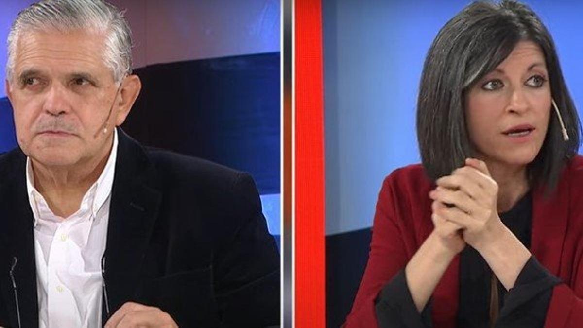 Fuerte cruce entre Fernanda Vallejos y Ricardo López Murphy (Foto: captura de TV).