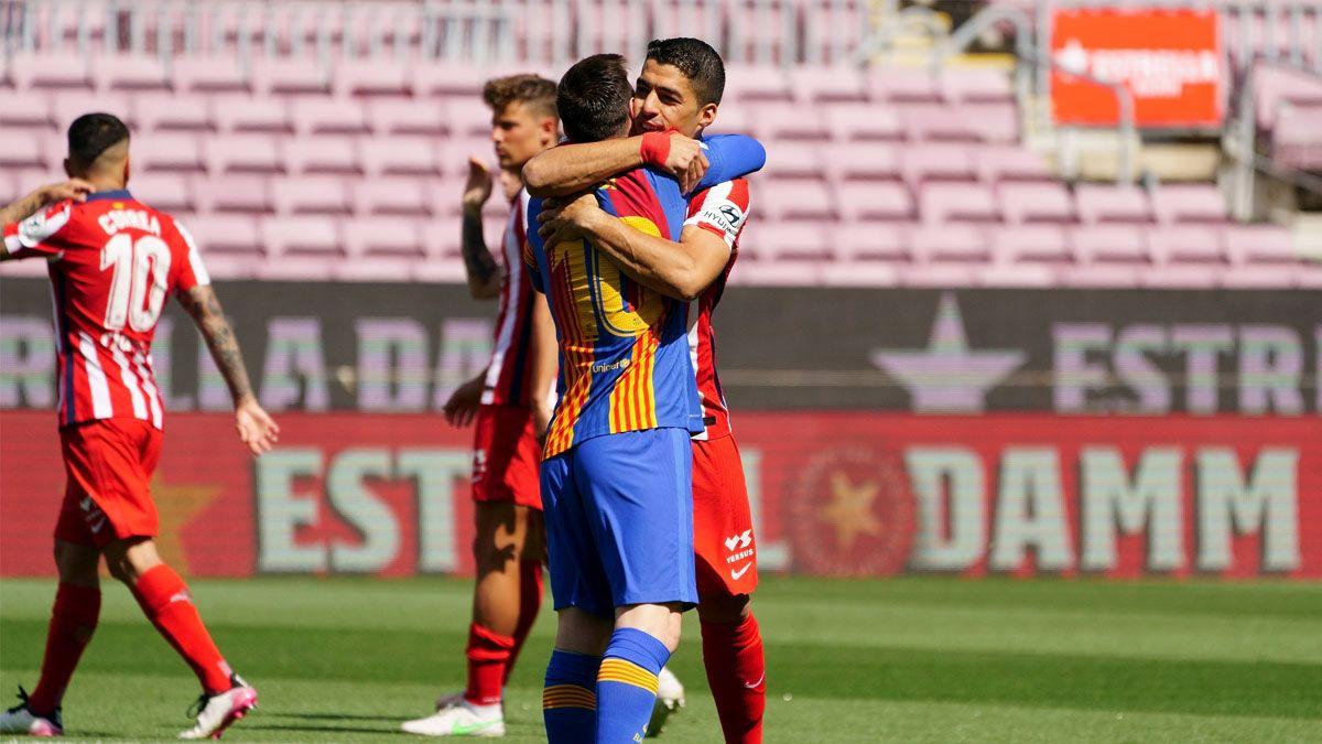 Messi y Suárez se reencontraron en el Camp Nou.
