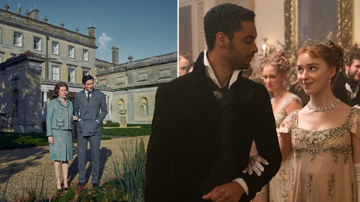 The Crown y Bridgerton se enfrentan por la locación del rodaje de sus nuevas temporadas en Netflix.
