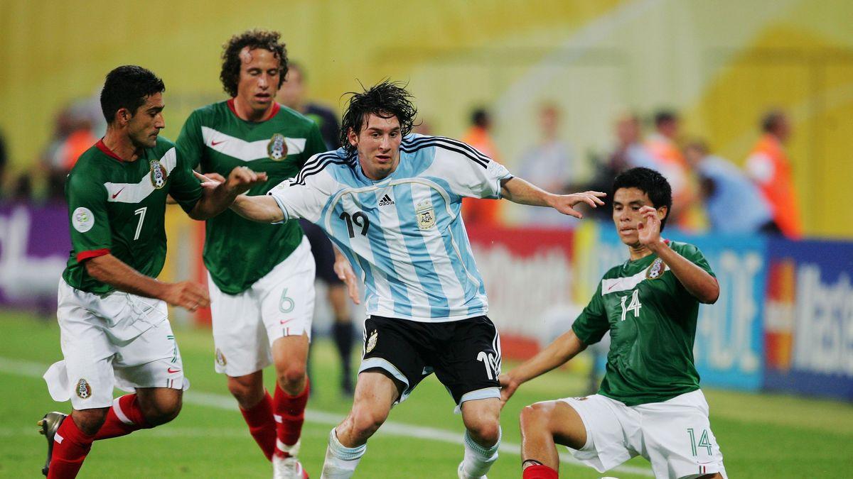 Messi festejó sus 19 en la cancha ante México en el Mundial de Alemania 2006.