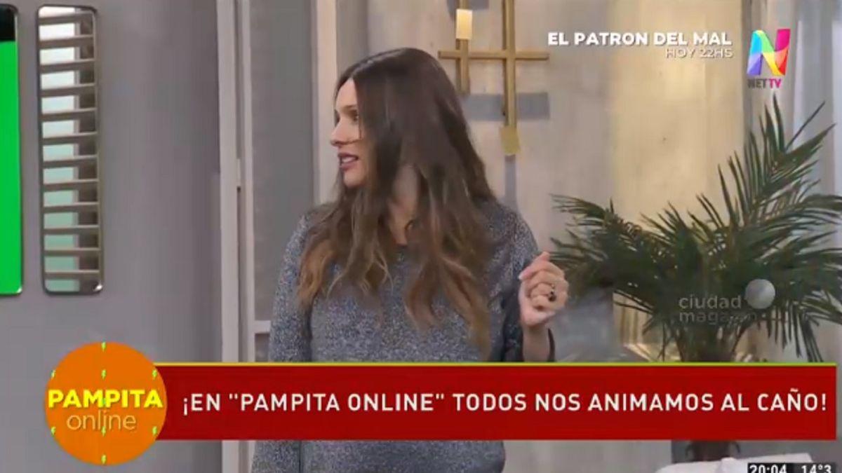 La reacción de Pampita al ver caer de cabeza a Barby Franco