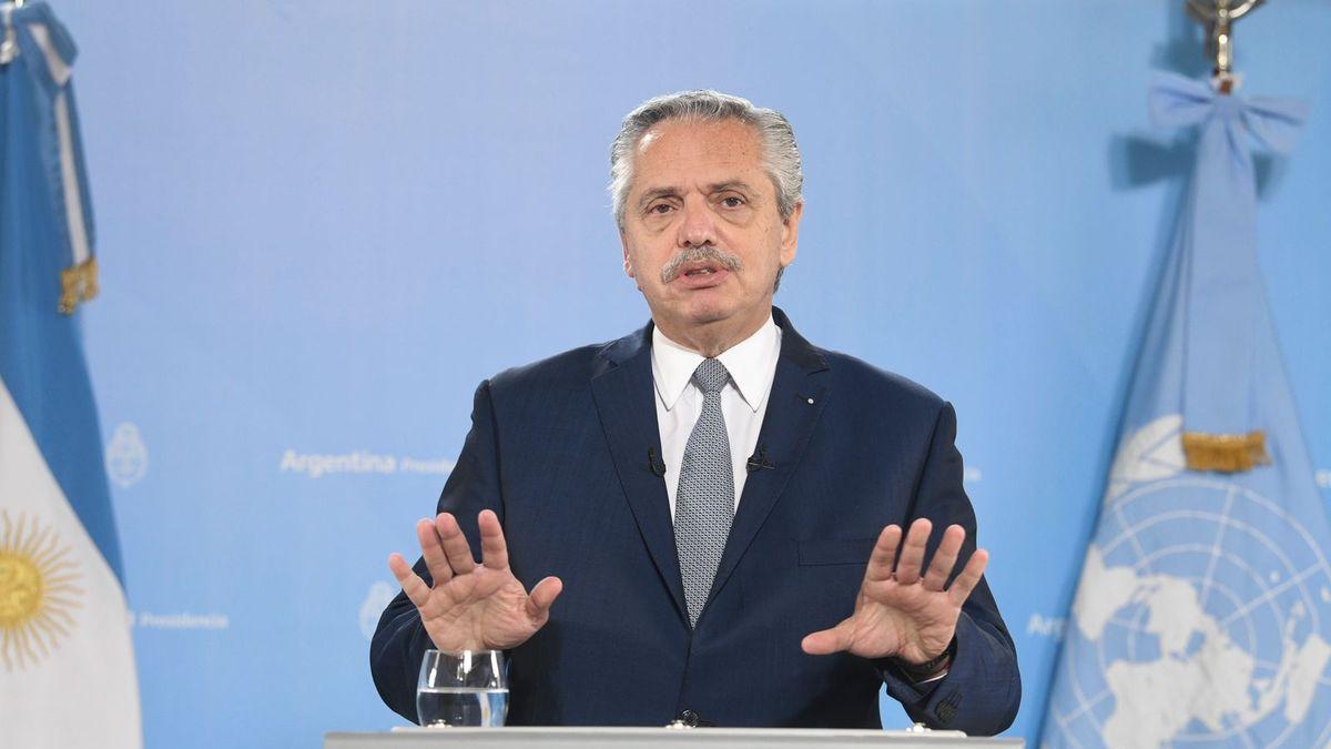 Alberto Fernández en la 76° Asamblea General de la Organización de Naciones Unidas.