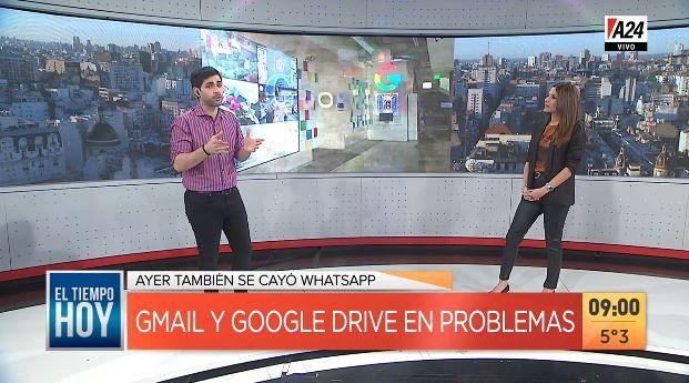 Whatsapp, Gmail y Google Drive registraron problemas en todo el mundo