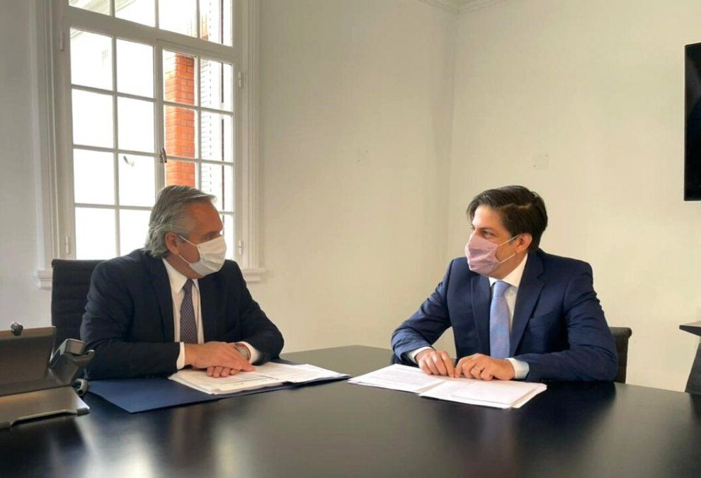 Alberto Fernández recibió al ministro de Educación