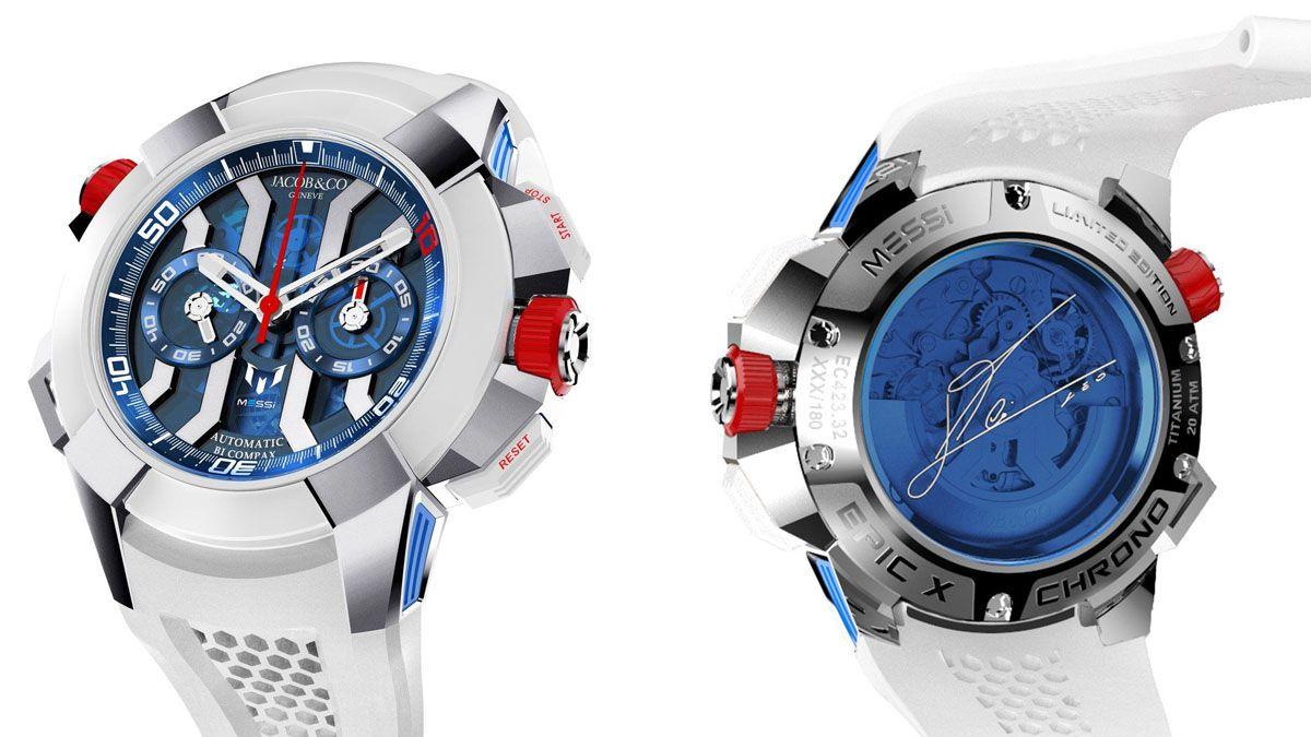 Messi y su reloj edición limitada que cuesta 150 mil dólares.