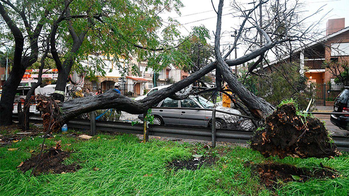 Las imágenes del temporal que golpeó a Buenos Aires
