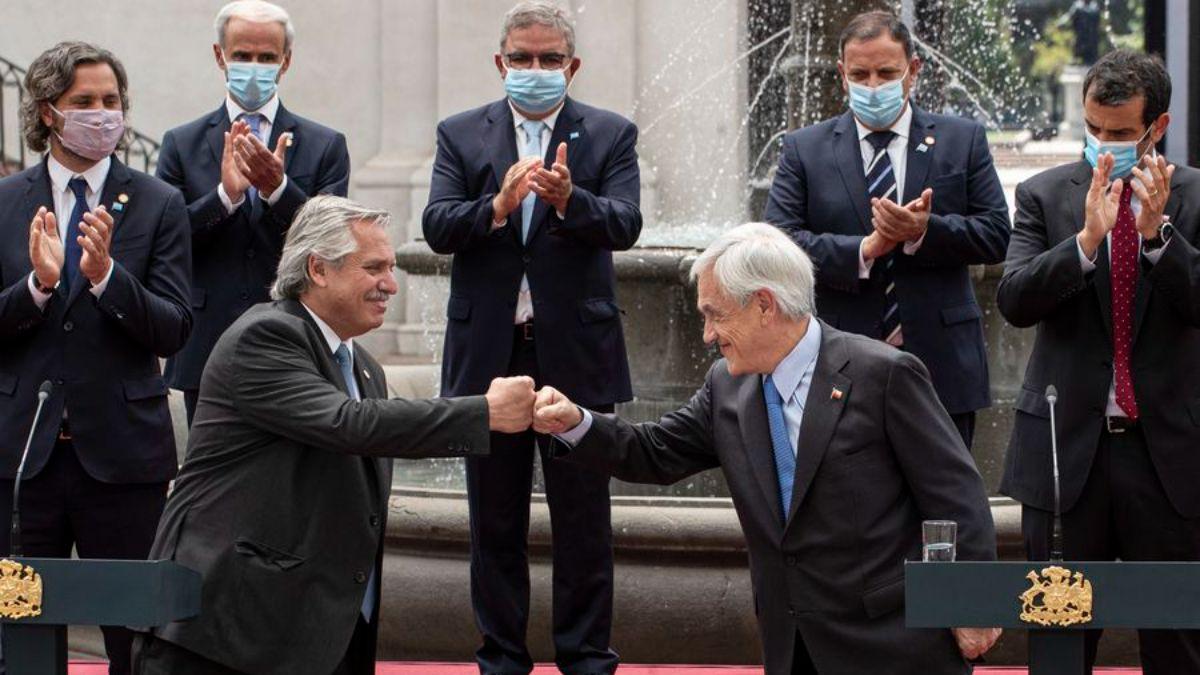 Alberto Fernández y Sebastián Piñera