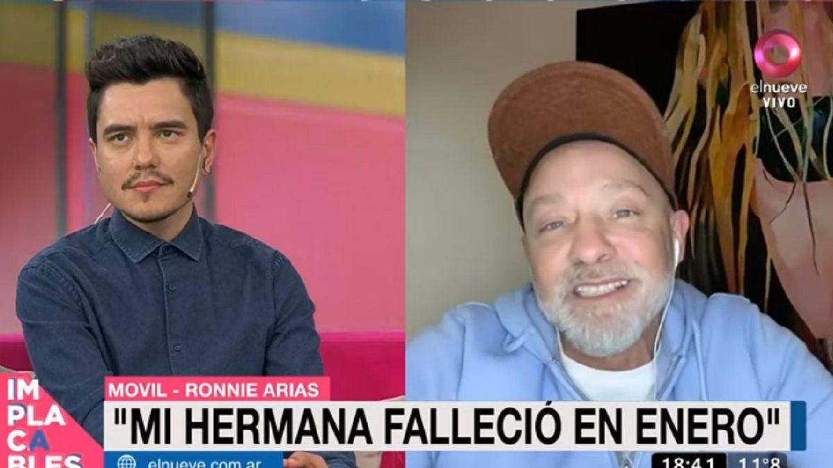 Ronnie Arias habló de la reciente muerte de su hermana