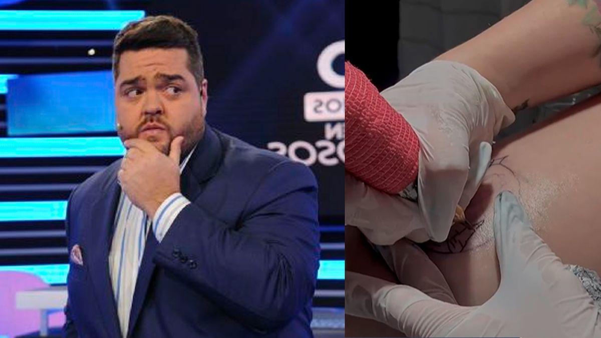 Una fanática se tatuó a Darío Barassi en la pierna