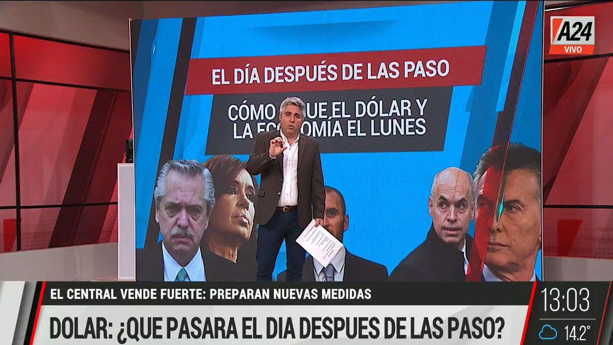 ¿Qué pasará con la economía argentina después de las PASO? (Foto: Captura de TV)