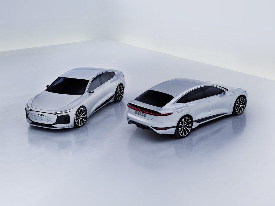 Audi presenta en el Salón del Automóvil de Shanghái 2021 el modelo precursor de una innovadora gama de coches de producción con propulsión totalmente eléctrica: el Audi A6 e-tron concept de cuatro puertas. En el futuro