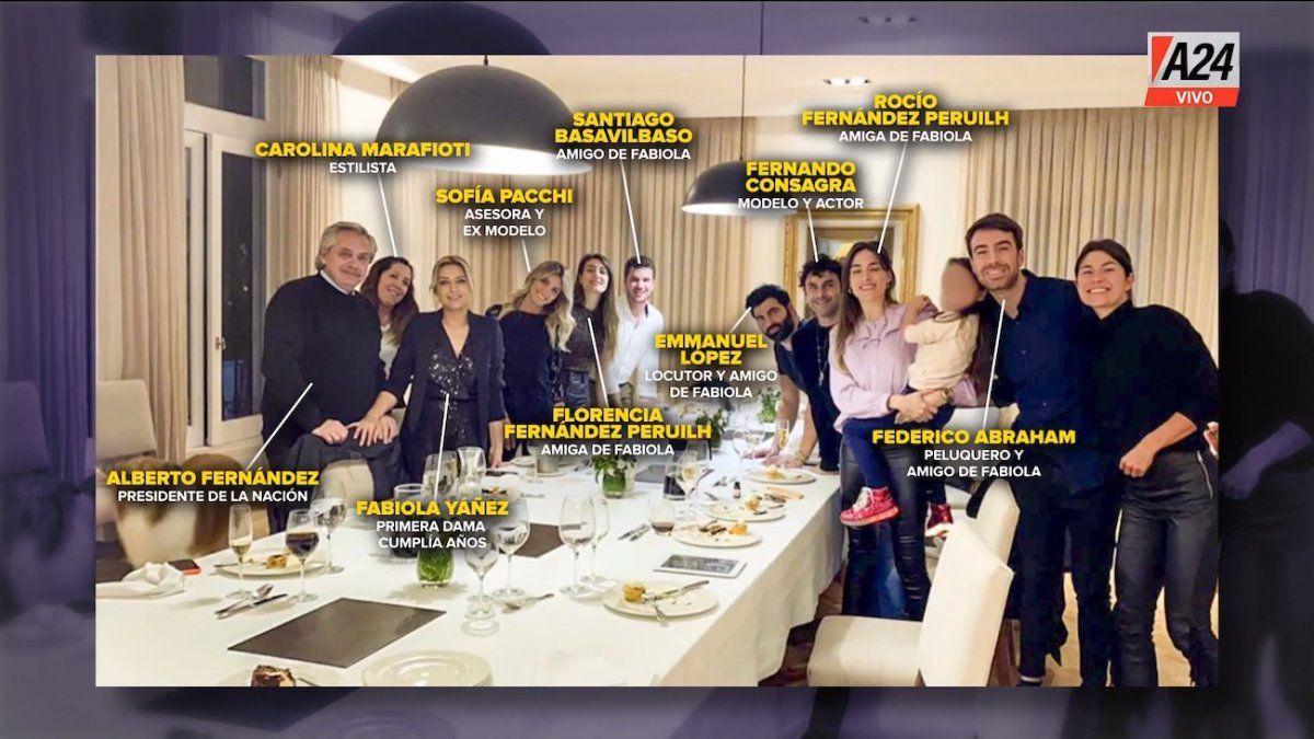 Uno por uno, quién es quién en la foto del festejo de cumpleaños en Olivos