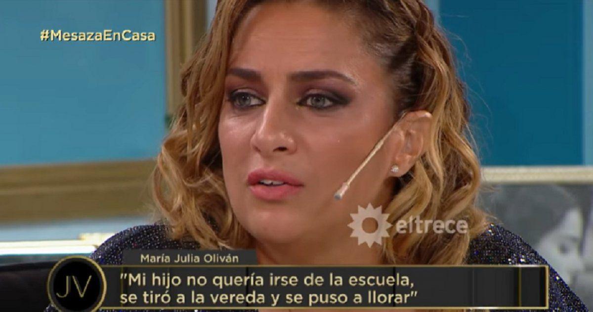 María Julia Oliván, al borde de las lágrimas: Mi hijo se tiró al piso, se puso a llorar, no quería irse