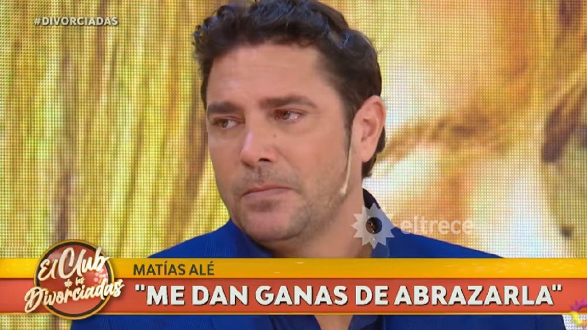 Matías Alé lloró al hablar de su separación de Graciela Alfano