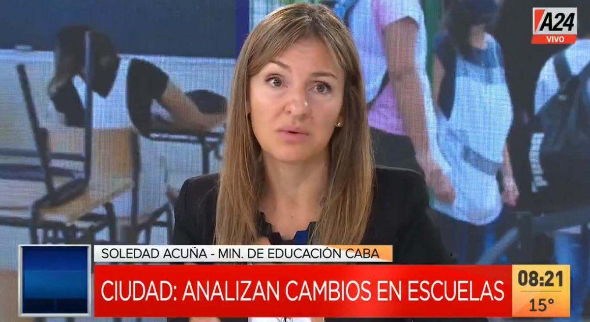Acuña adelantó que la Ciudad analiza que se habiliten los kioscos y buffets dentro de las escuelas