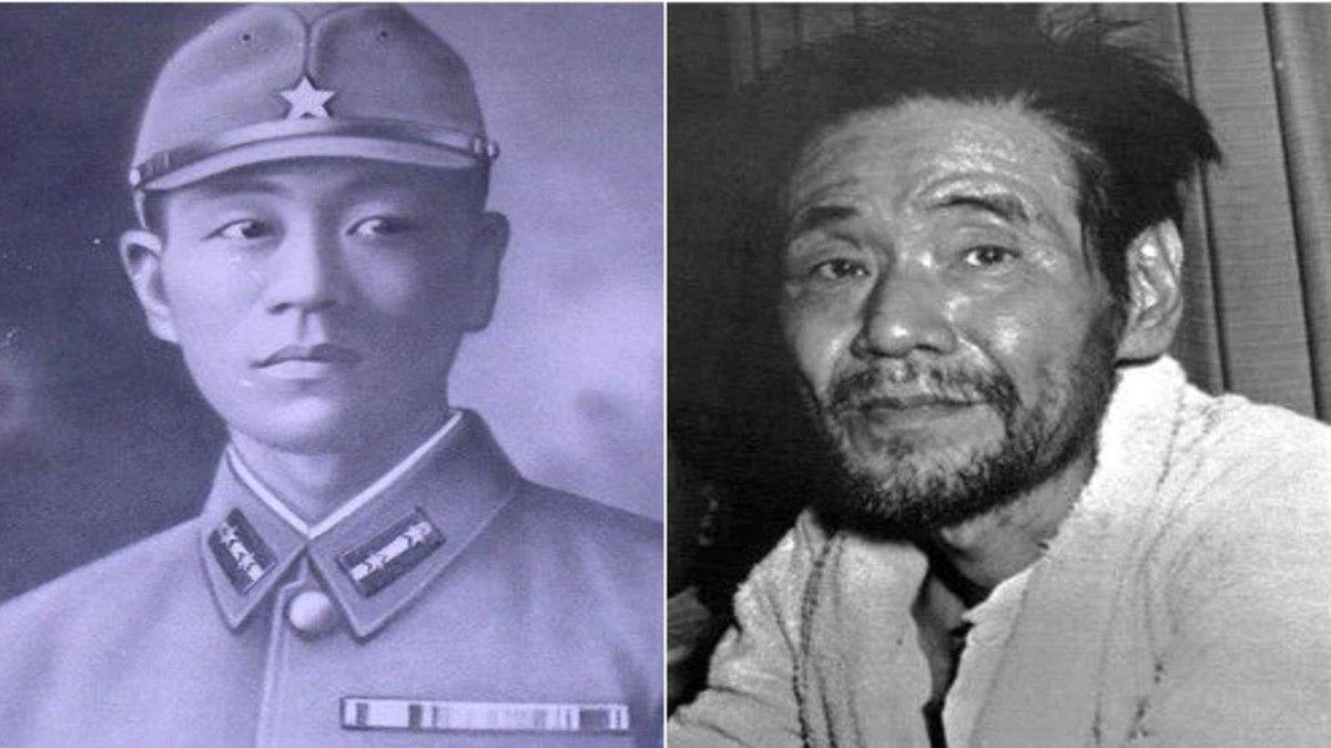 El soldado Shoichi Yokoi en 1941 y en 1972