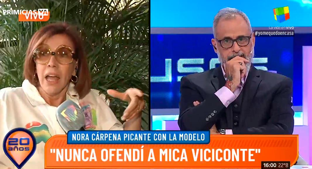 Nora Cárpena: A lo mejor el día de mañana Mica Viciconte es Pinky pero no sé si le interesa ser Sofía Gala