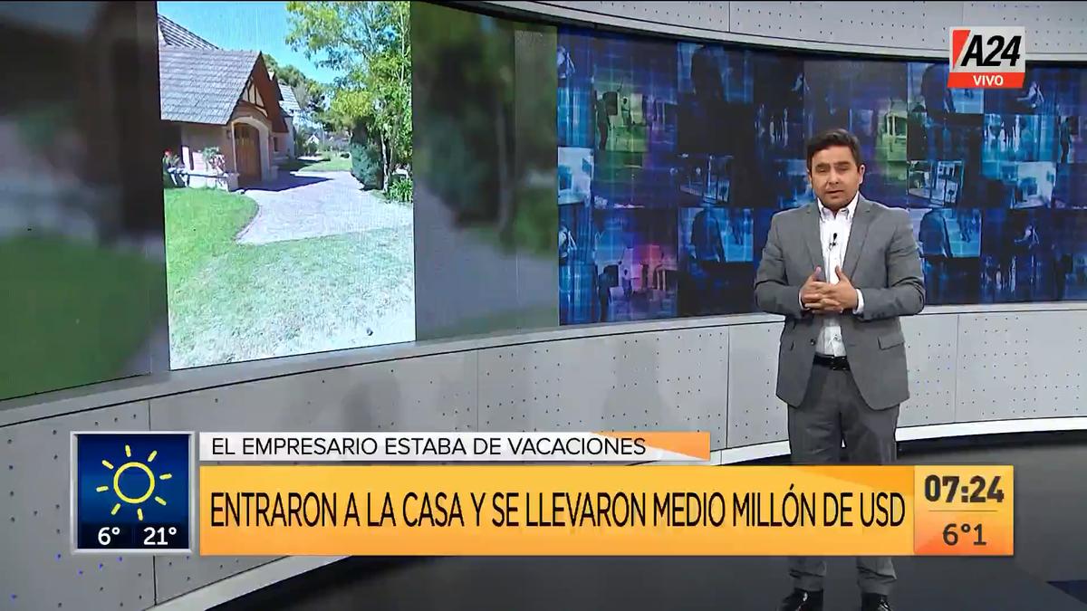 Robo millonario a un empresario gastronómico de Pinamar. (Captura de Tv)