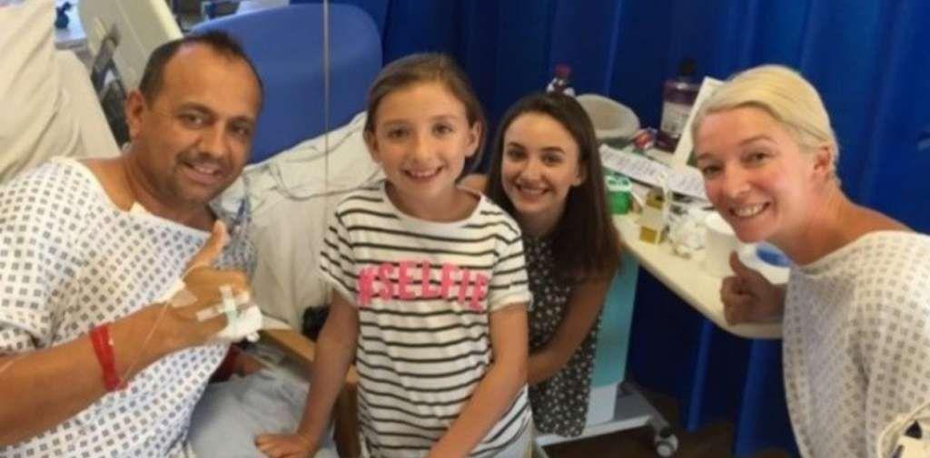 Una mujer le donó un riñón a su ex pareja para que sus hijas no perdieran al padre