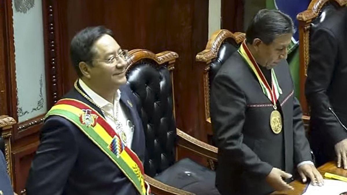 Así asumía Luis Arce como presidente de Bolivia