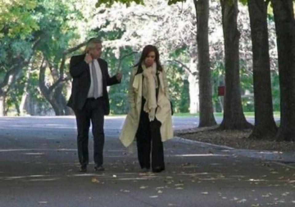 Alberto Fernández y Cristina Kirchner acuerdan lista de unidad del Frente de Todos. El presidente centra su agenda en Olivos a un día del cierre de listas. (Foto: Archivo)