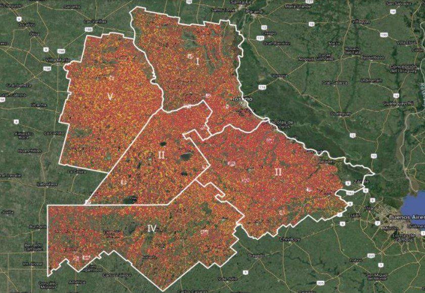 Los puntos de georreferencia con los que se siguió la campaña de maíz y su siembra.