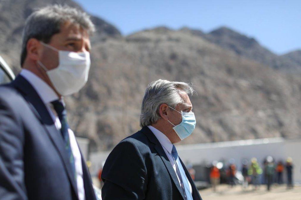 Alberto Fernández y Sergio Uñac. (Foto: archivo Presidencia)